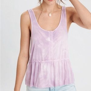 Soft and Sexy American Eagle Babydoll Tie Dye Tank